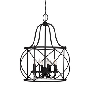 Turbinio Blacksmith 29.5-Inch Energy Star Eight-Light Hall Foyer