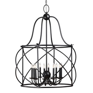 Turbinio Blacksmith Ten Light Lantern Chandelier