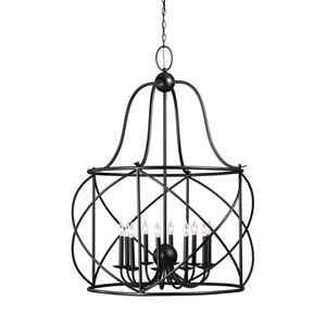 Turbinio Blacksmith 37-Inch Energy Star Ten-Light Hall Foyer