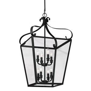Lockheart Blacksmith Eight Light Hall Foyer Lantern with Clear Glass