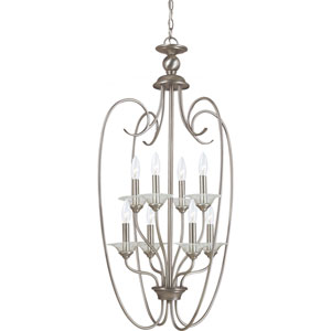 Lemont Antique Brushed Nickel  Eight-Light Pendant
