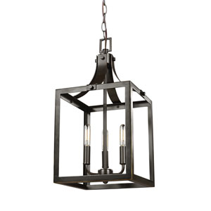 Labette Heirloom Bronze 10-Inch Three-Light Hall Foyer