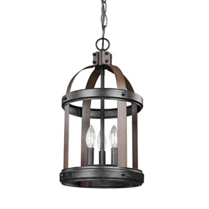 Lonoke Stardust 10.5-Inch Three-Light Hall Foyer