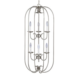 Holman Brushed Nickel Six-Light Chandelier