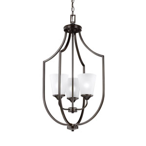 Hanford Bronze Three-Light Lantern Pendant