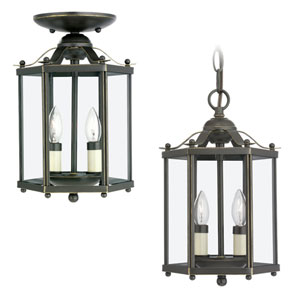 Bretton Heirloom Bronze Convertible Lantern Pendant