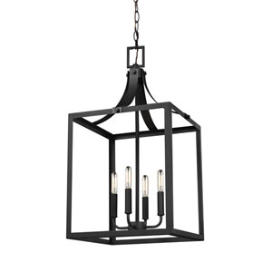 Labette Black 14-Inch Energy Star Four-Light Hall Foyer
