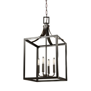 Labette Heirloom Bronze 14-Inch Energy Star Four-Light Hall Foyer