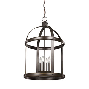 Lonoke Heirloom Bronze 19-Inch Energy Star Four-Light Hall Foyer