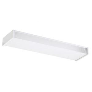 White 24-Inch Long Two-Light Fluorescent Flush Mount