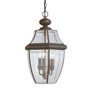 Lancaster Antique Bronze 12-Inch Energy Star Three-Light Outdoor Pendant