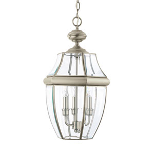 Lancaster Antique Brushed Nickel 12-Inch Energy Star Three-Light Outdoor Pendant