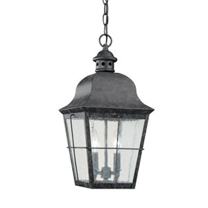 Chatham Oxidized Bronze 9-Inch Energy Star Two-Light Outdoor Pendant