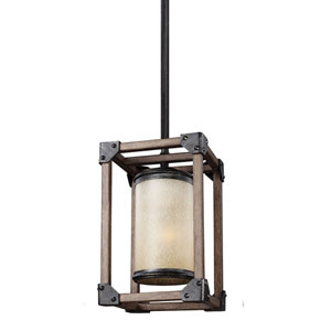 Dunning Stardust One-Light Mini Pendant with Creme Parchment Glass