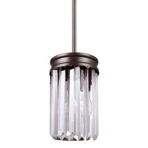 Carondelet Burnt Sienna One-Light Mini Pendant with Prismatic Glass