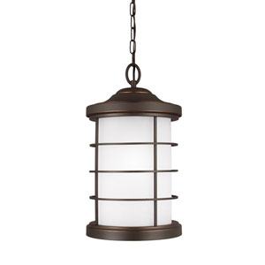 Sauganash Antique Bronze One-Light Outdoor Pendant