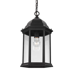 Sevier Black 9-Inch One-Light Outdoor Pendant