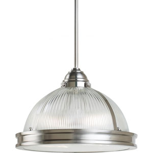 Pratt Street Prismatic Brushed Nickel  Two-Light Pendant