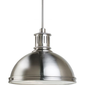 Pratt Street Metal Brushed Nickel  Three-Light Pendant