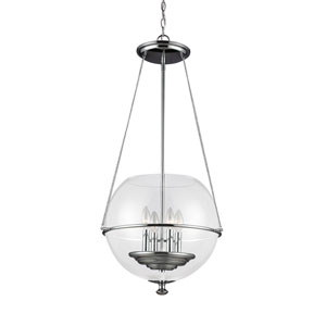 Havenwood Chrome Four-Light  Medium Pendant with Clear Glass