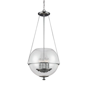 Havenwood Chrome Six-Light  Large Pendant with Clear Glass
