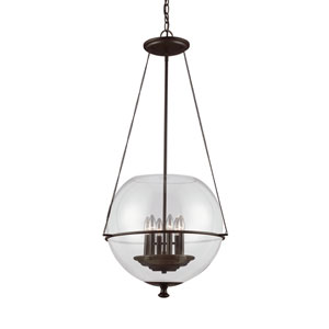 Havenwood Autumn Bronze Six-Light  Large Pendant with Clear Glass
