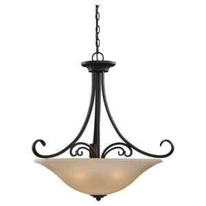 Del Prato Chestnut Bronze Four-Light Bowl Pendant