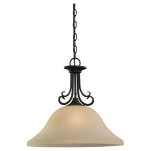 Del Prato Chestnut Bronze One-Light Dome Pendant