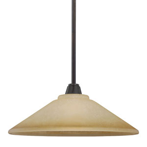 Parkfield Flemish Bronze One-Light Down Pendant with Creme Parchment Glass