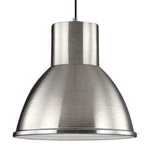 Division Street Brushed Nickel One-Light Pendant