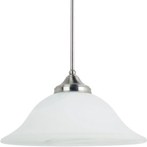Brockton Brushed Nickel  One-Light Pendant