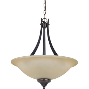Brockton Burnt Sienna  Three-Light Pendant