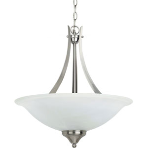 Brockton Brushed Nickel  Three-Light Pendant