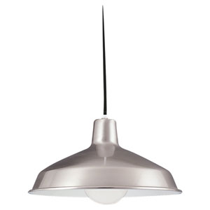Brushed Stainless Dome Pendant