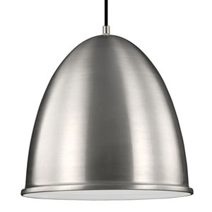 Hudson Street Satin Aluminum One-Light Pendant