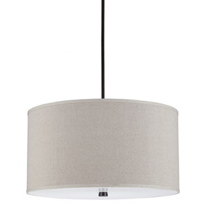 Dayna Burnt Sienna 13-Inch Four Light Pendant with Linen Shade