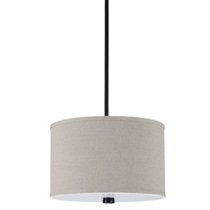 Dayna Burnt Sienna 9-Inch Two Light Pendant with Linen Shade
