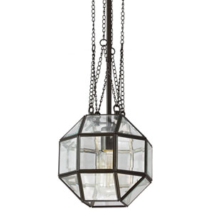 Lazlo Heirloom Bronze One Light Mini Pendant with Clear Beveled Glass