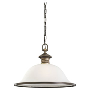 Laurel Leaf Estate Bronze One-Light Dome Pendant