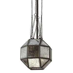 Lazlo Heirloom Bronze Small One Light Mini Pendant with Mercury Glass