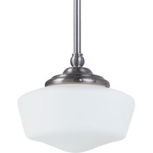 Academy Brushed Nickel  One-Light Pendant