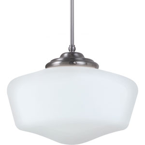 Academy Brushed Nickel  One-Light Pendant