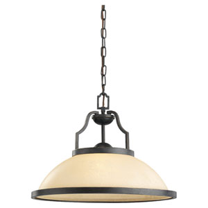 Roslyn Flemish Bronze One-Light Bronze Pendant