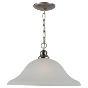 Windgate One-Light Brushed Nickel Pendant