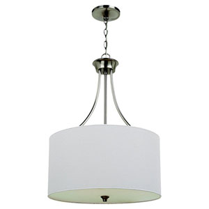 Stirling Three-Light Brushed Nickel Pendant