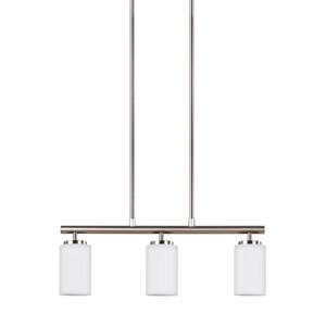 Oslo Brushed Nickel 4-Inch Three-Light Pendant