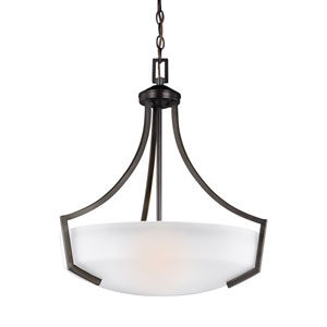 Hanford Burnt Sienna 20.5-Inch Three-Light Pendant