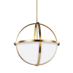 Alturas Satin Brass 19-Inch Three-Light Pendant