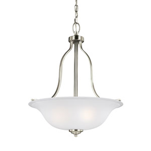 Emmons Brushed Nickel 18-Inch Three-Light Chandelier