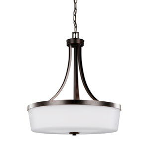 Hettinger Burnt Sienna 19-Inch Three-Light Pendant